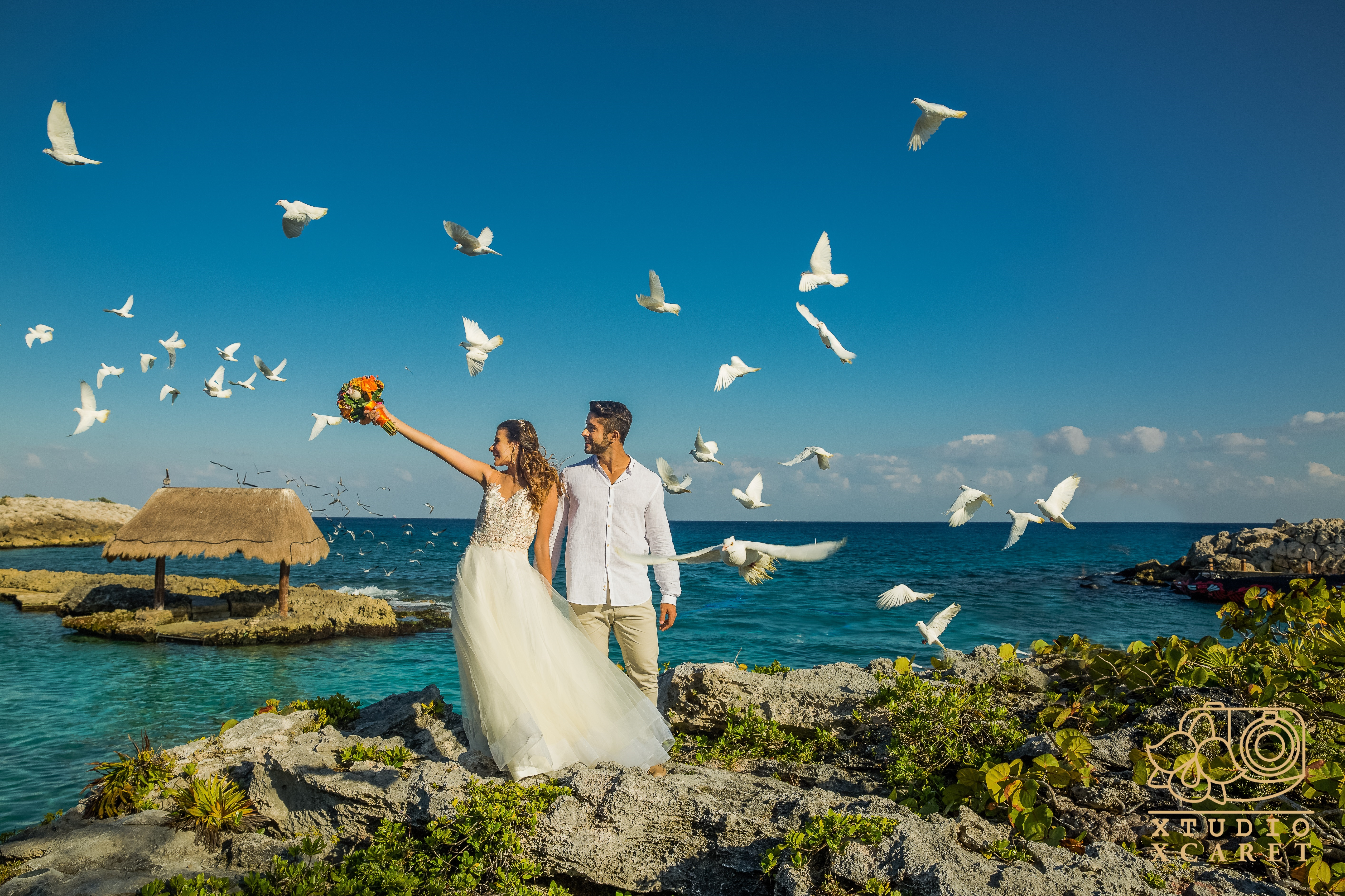Destination Wedding at Xcaret Riviera Maya Mexico